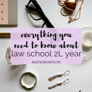 Everything you need to know about law school 2L year -- advice for transferring law schools, what classes to take in law school, how to be involved in law school, law school internship help. law school advice. law school tips. law school blog. law student blog | brazenandbrunette.com