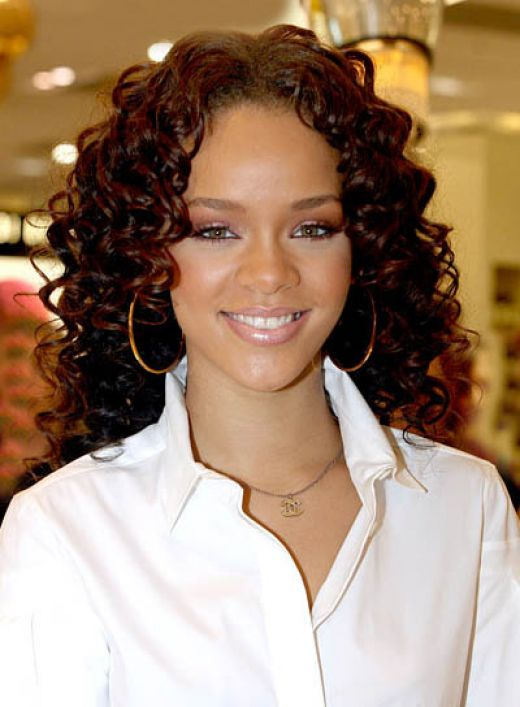 Roiremoldtrig Rihanna Red Hair Curly