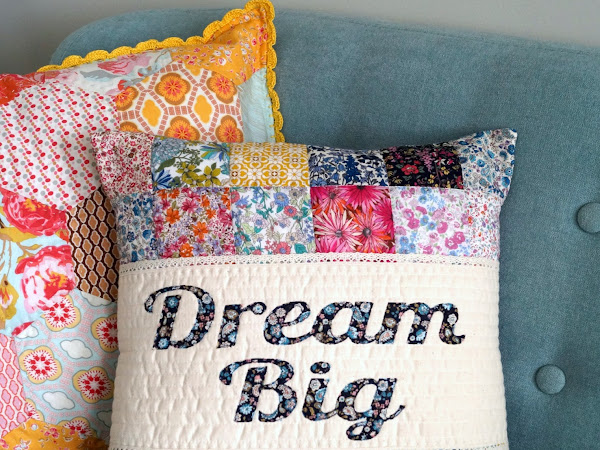 Dream Big Quilted Pillow