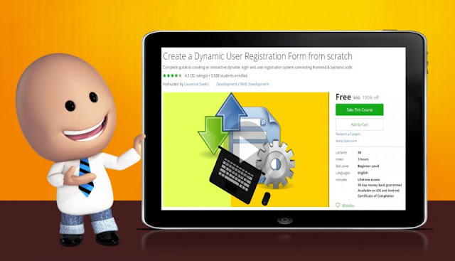 [100% Off] Create a Dynamic User Registration Form from scratch|Worth 50$