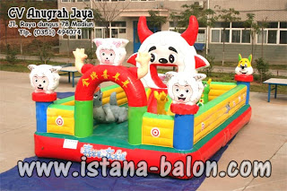 Istana Balon Champion Sheep Ukuran 4x6