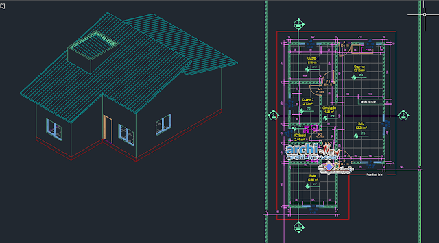 70m2 house in AutoCAD