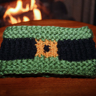 Loom knit st. patricks day headband
