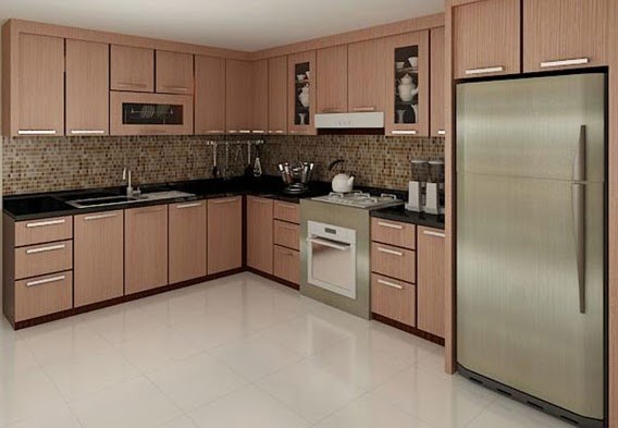 Gambar model keramik dapur minimalis modern terbaru for Kitchen setting pictures