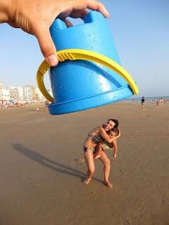 Fotos divertidas praia