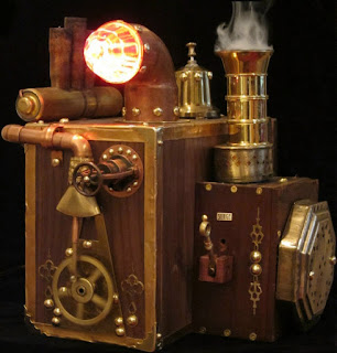 Steampunk Computer Hard Drive with Smoke