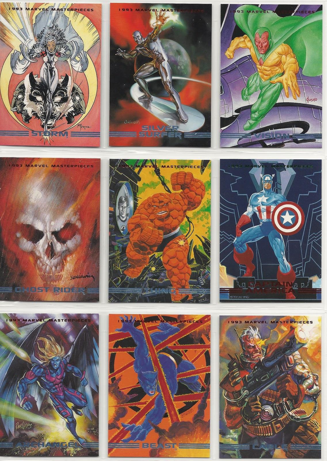 Morbius Marvel >> 1993 MARVEL MASTERPIECES: Base Set (#1-90)