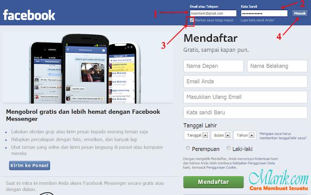 Cara Masuk atau Login atau Sign in Akun Facebook