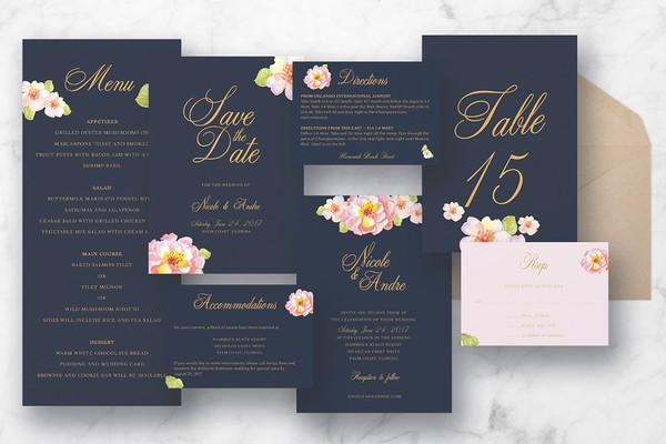 Pink Floral Wedding Suite