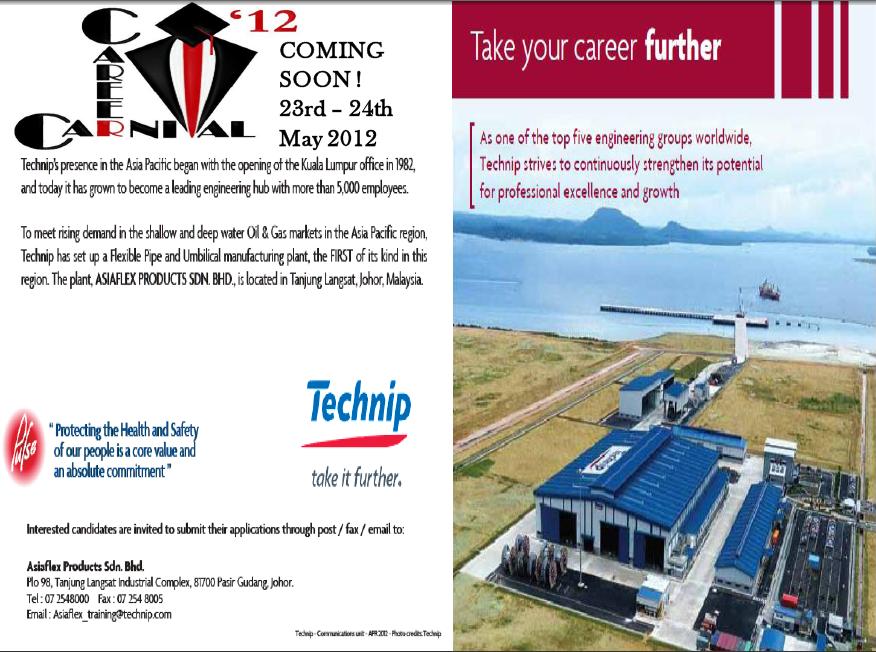 career carnival utm 2012  technip recruit  send resume now