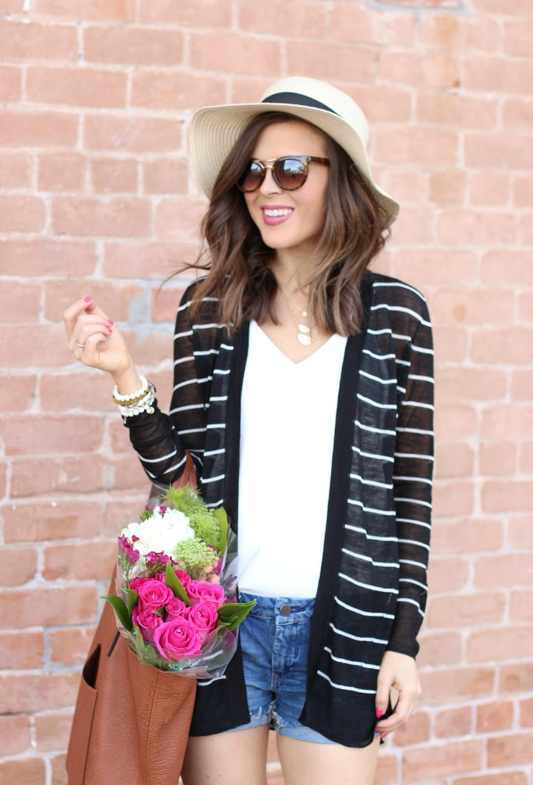 Sheer Striped Cardigan