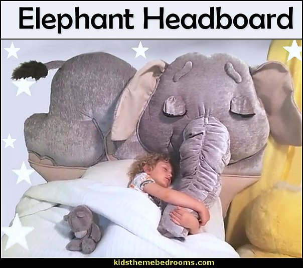 Elephant headboard - Animal themed toddler Beds - themed beds - fun kids theme beds - toddler animal beds - fun furniture - kids themed beds - kids room furniture - unique furniture - animal themed headboards - Animal Shaped Beds for toddlers - playroom beds - -