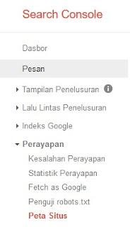Cara mengirimkan Peta Situs diGoogle search console