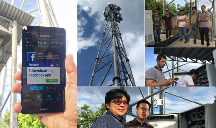 Smart gets over 200 Mbps DL speed in Tanay LTE site