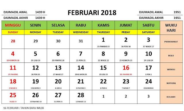 tanggalan wisata maret 2018