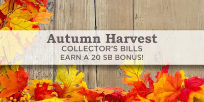 Autumn Harvest Collector's Bills - get bonuses for searching the web
