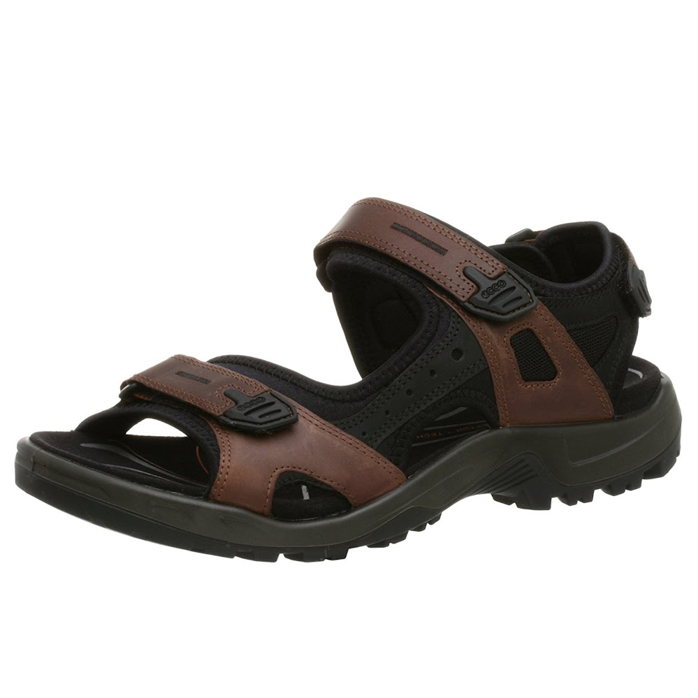 ECCO Men's Yucatan Sandal,Bison/Black/Black,43 EU (US Men's 9-9.5 M)