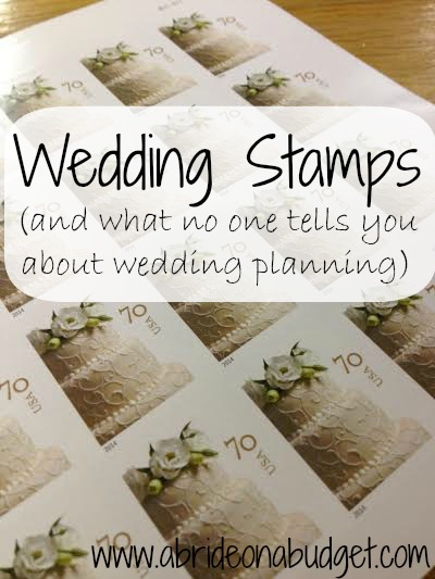Wedding stamps (and what no one tells you about wedding planning) from www.abrideonabudget.com should be required reading for anyone who is wedding planning!