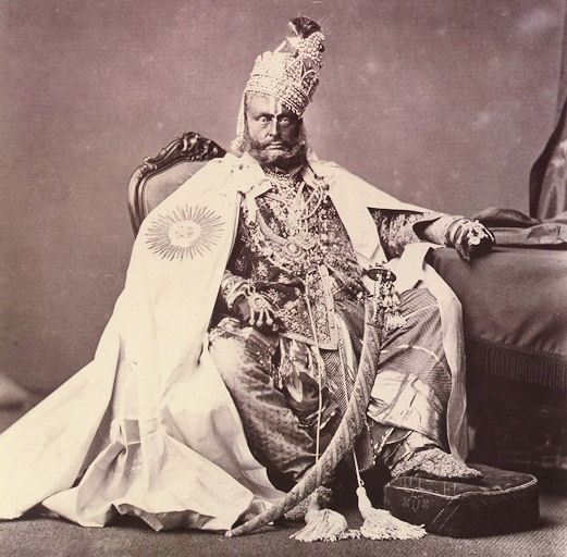 Maharaja of Rewa (Now in Madhya Pradesh) - 1877