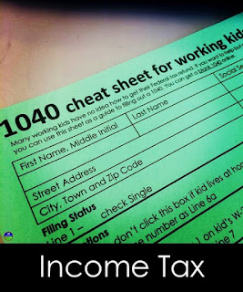 1040 Income Tax Cheat Sheet for Kids
