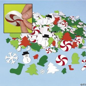 500 Fabulous Foam CHRISTMAS Sticker/SELF ADHESIVE Shapes/SCRAP Booking/ARTS & Crafts/HOLIDAY/Candy Cane/TREE/SANTA/SNOWMAN