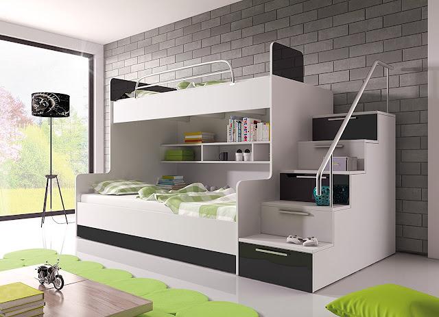 top bunk bed for kids room