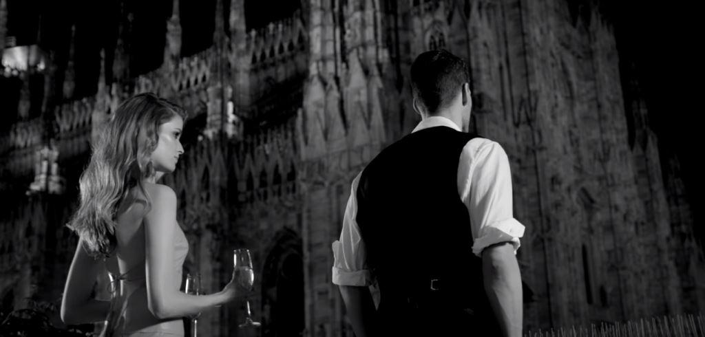 modella modello testimonial trussarti profumo uomo donna spot pubblicita 2016