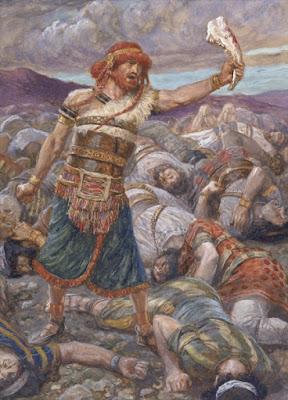שמשון הורג בפלשתים עם לחי חמור - ג'יימס טיסוט