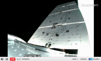 second Dragon solar array deployed