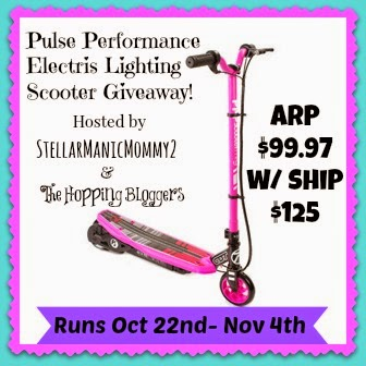 Sign up for the Pulse Performance Products Lighting Electric Scooter Blogger Opp. Signups close on 10/20
