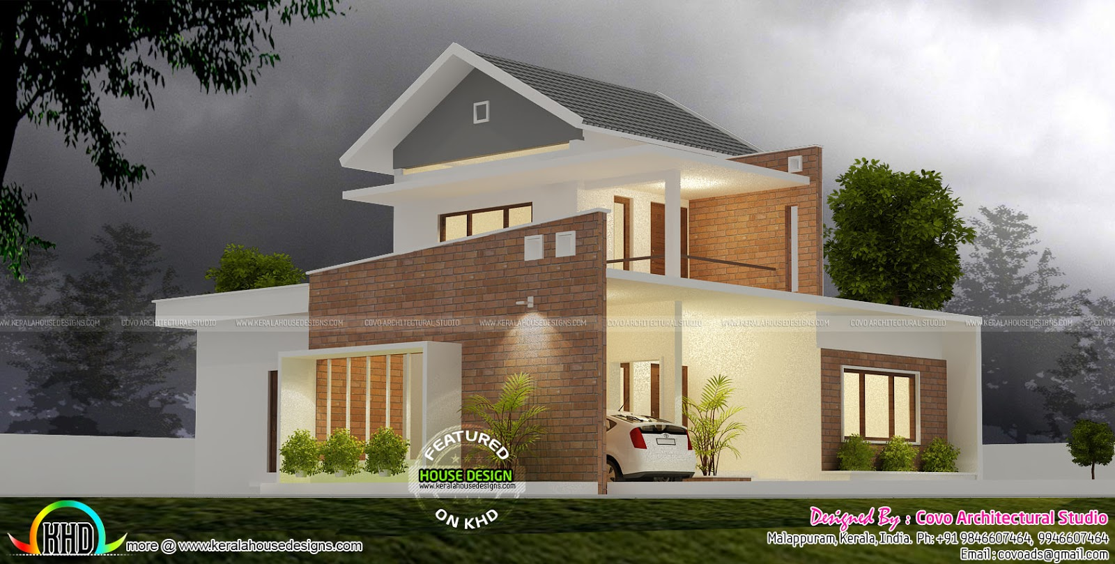 4 bedroom modern home in 1710 sq ft kerala home design for Kerala home designs com