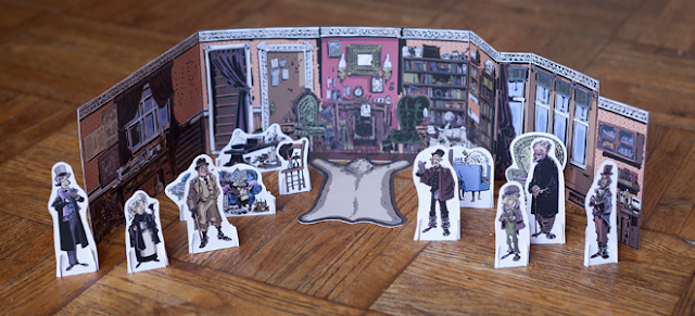Diorama of Baker Street and figures by Chris Schweizer