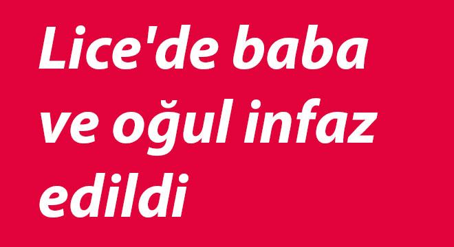 Diyarbakır Lice'de baba ve oğul infaz edildi
