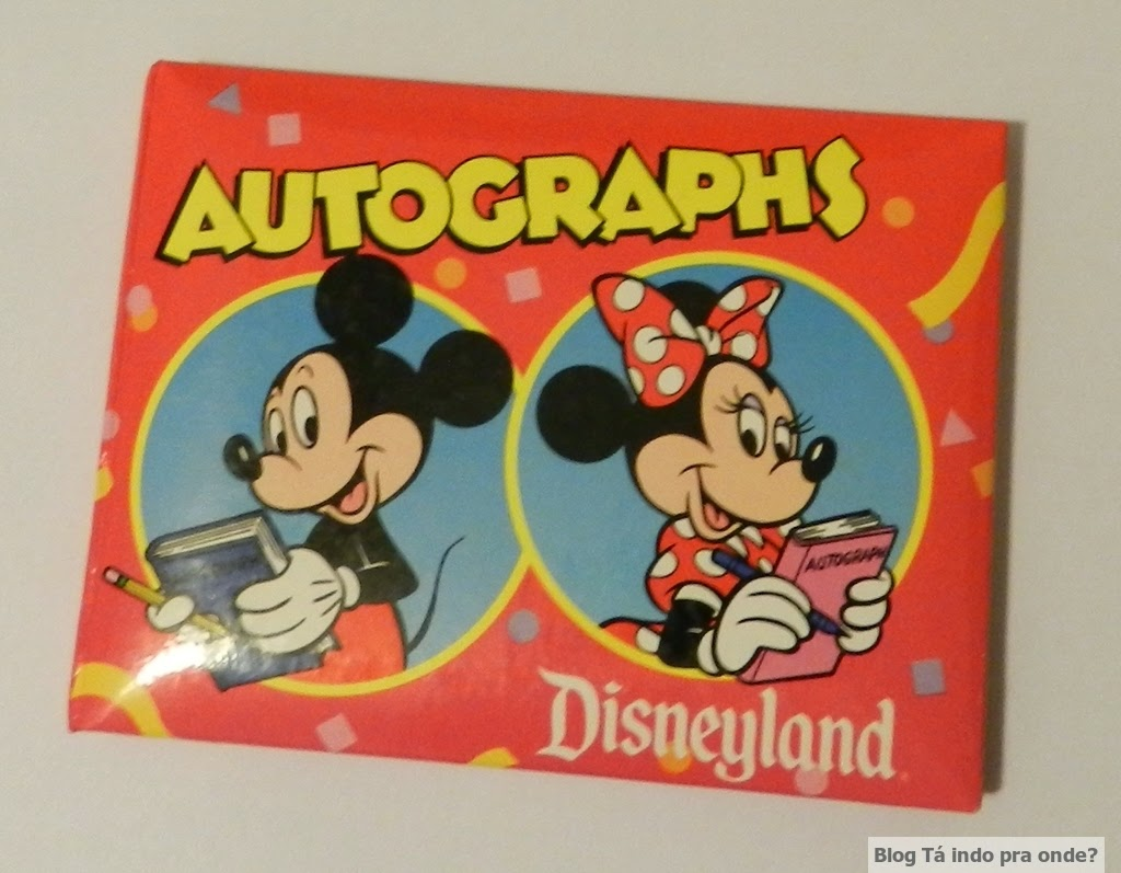 caderno de autógrafo da Disney