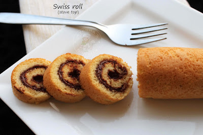 jelly roll or jam roll ayeshas kitchen easy quick dessert or snack for kids on stove top with hazelnut spread or nutella simple swiss roll recipe homemade