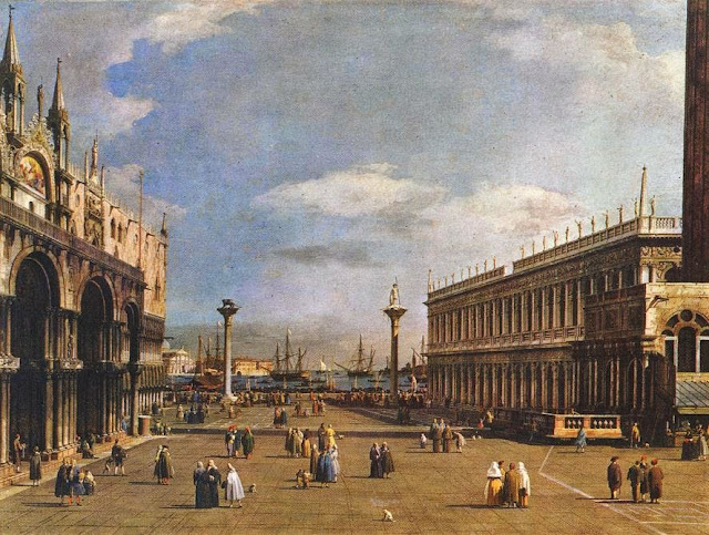 The Piazzetta by Canaletto