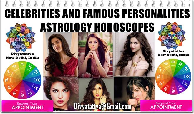 Indian Celebrities Horoscopes, Famous Personalities Zodiac Signs, Vedic Astrology Kundali Analysis, Astro Data Bank By Rohit Anand New Delhi India