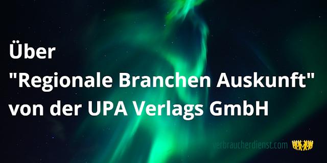 Regionale Branchen Auskunft | UPA Verlags GmbH