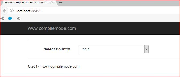 Display Country List Without Database in ASP NET MVC