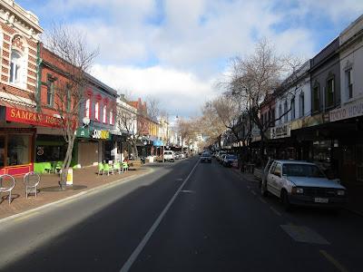 Calle George de Dunedin, en Nueva Zelanda