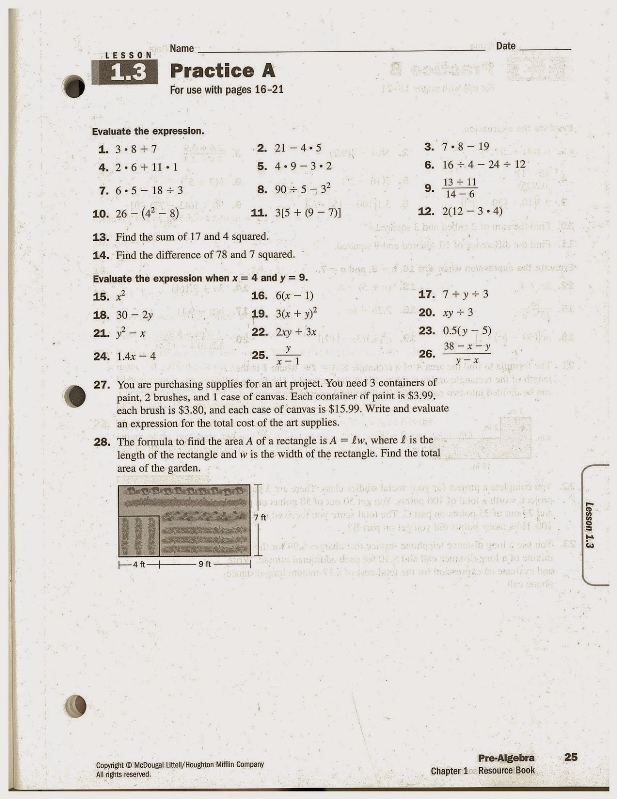 Heidemann 8th Grade Math August