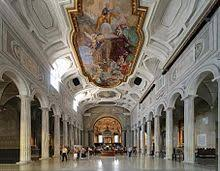 Inside the beautiful church of San Pietro  in Vincoli in Rome