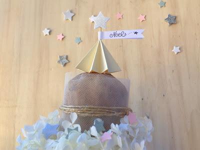 cake topper albero di natale con la tecnica Origami