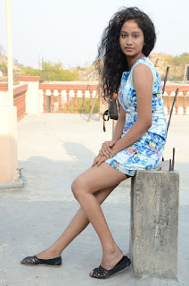 Actress Priyankha Stills in Floral Short Dress at Golmal Gullu Movie Pressmeet 0338.JPG