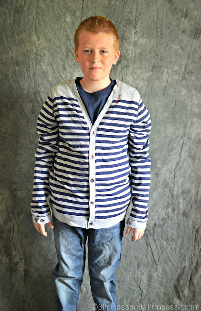 Guess boys long-sleeved striped cardigan