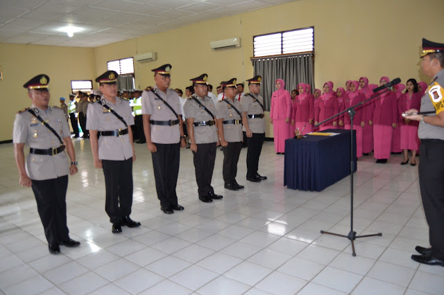 11 Personil Polres OKI Sertijab