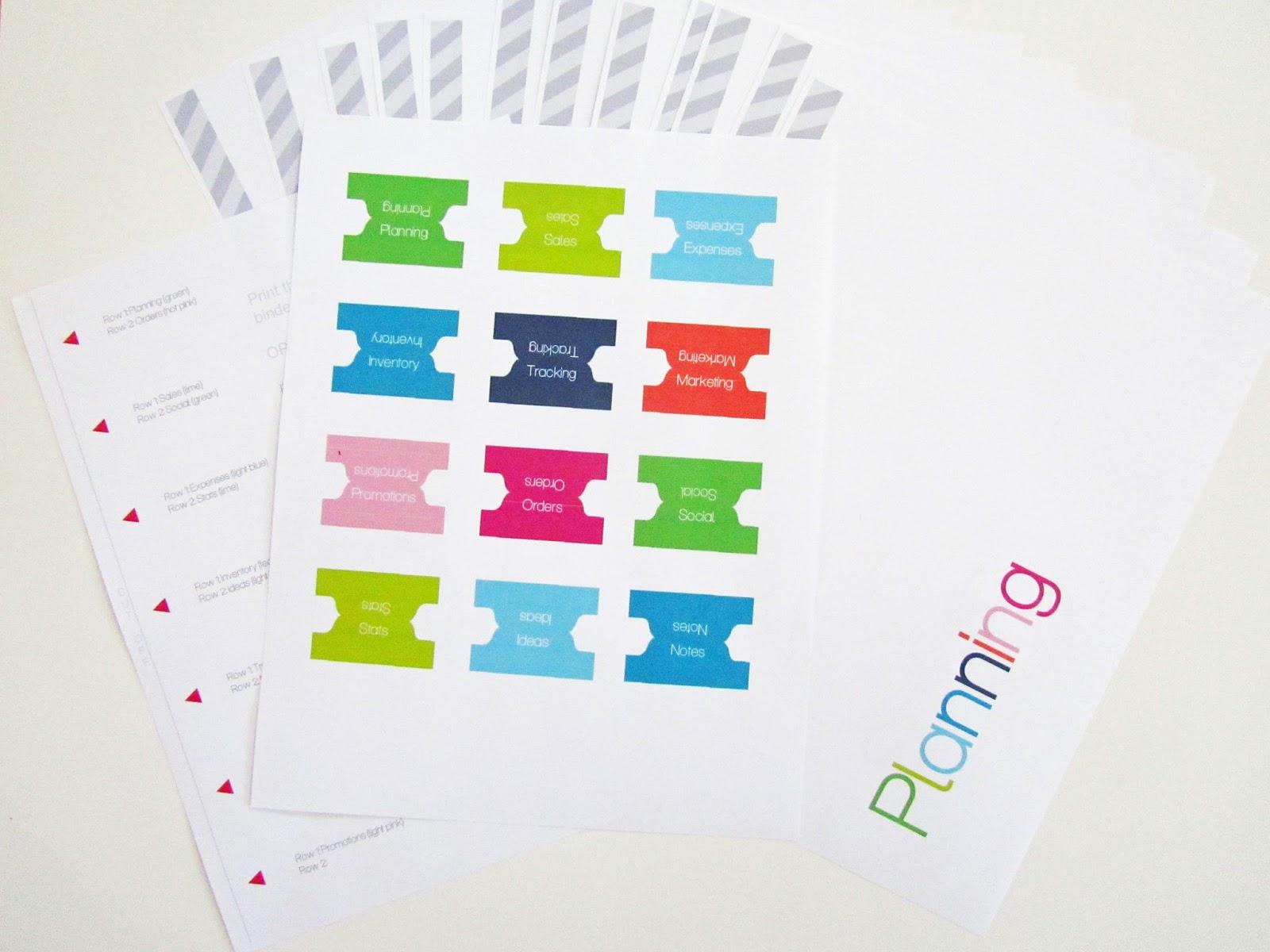 Clean Life And Home Free Printable Divider Tabs Pages For Your Business Planner And Step By