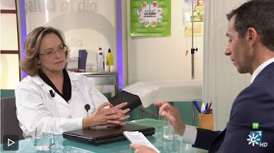La pediatra Ana Martínez Rubio en Canal Sur