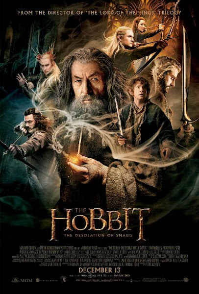 Poster of The Hobbit The Desolation Of Smaug 2013 720p Hindi BRRip Dual Audio