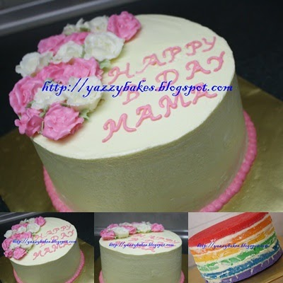 Yazzy Bakes Rainbow Cake For Emi